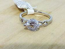 Solitario Anello Donna Argento Cubic Zirconia Diamante Idea Regalo Anniversario