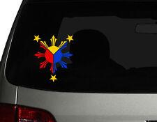 "Filipino Vinyl Car Decal Sticker 5"" (H) Create No3 Philippine Flag 3colors RL"
