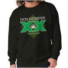 Dos Hempes Funny Marijuana Stoner Drinking Crewneck Sweat Shirts Sweatshirts