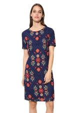Desigual Short Sleeved Blue Floral Lace Elisa Dress 34-46 UK 8-18 RRP �129