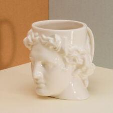 Hestia Tasse DOIY Weiß Blau Terrakotta griechischer Gott Apollo 400 ml Keramik