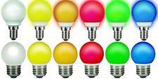 LED Birne 0,5 Watt Tropfenlampe farbig Glühlampe Leuchte innen und außen Deko