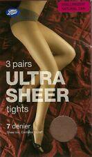 3 Pair Boots Ultra Sheer Tights 7 Denier