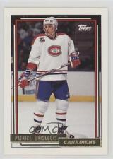 1992-93 Topps #189 Patrice Brisebois Montreal Canadiens Hockey Card
