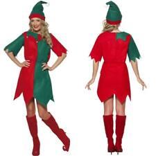 FEMMES COSTUME ELFE GRANDE chapeau Noël Père Helper Déguisement SMIFFYS 21474