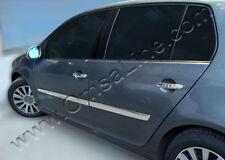 4 BAGUETTES DE PORTE EN INOX AVEC DOUBLE FACE 3M INTEGREE POUR VW GOLF 5 5PORTES