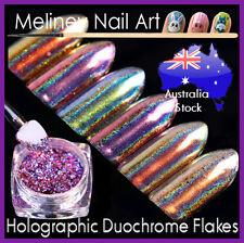 Holographic Duochrome Flakes Nail Art Decoration Chameleon Mirror Chrome meliney