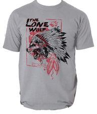 El lobo solitario Camiseta Lobo Indio Vintage s-3xl