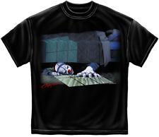 Scary Evil Clown T Shirt Halloween Horror Hiding Under Bed Nightmare Tee S-3XL