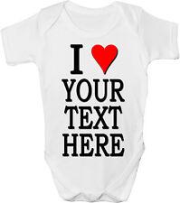 I Love Mom DAD Nan zia??? qualsiasi testo-personalizzata Baby Gilet / Gro / body