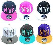 Mens Ladies Snapback Baseball Cap New York ¢ Ny State Retro Hip Hop Adults Hat