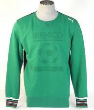 Puma Mexico Futbol Green Tounament Mexico Crew Neck Sweatshirt Football Mens NWT