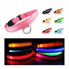DEL collier de chien lumière Animaux Chat Tag Bright Night Walking clignotant Haute Vis XS-XL