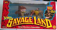 Toy Biz Marvel X-Men 1997 Savage Land Savage Wolverine &Crawler-Rex Figures NIB