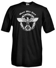 T-Shirt manica corta E05 Gott mit uns Dio è con noi Motto dell'Ordine Teutonico