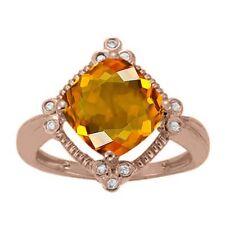 42772548d717 Anillo de Oro Amarillo Citrino 9 anillos finos con piedras preciosas ...