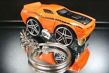 Orange 1970 Plymouth AAR cuda Key Chain Diecast Barracuda
