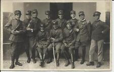 vecchia foto cartolina  prima guerra mondiale  soldati italiani vedi