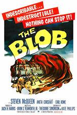 187704 The Blob Retro Movie Various Sci-fi Vintage Film Wall Print Poster CA