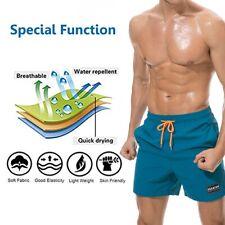 Men's Swim Trunks Beach Swimsuits Liner Quick Dry Pockets Sports Shorts Slim Fit