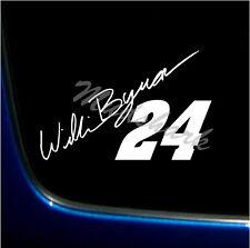 "WILLIAM BYRON 24 STICKER DECAL VINYL GRAPHICS 5.5 X 8"" NASCAR"