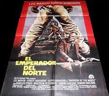 1973 Emperor of the North Pole  ORIGINAL SPAIN POSTER Rober Aldrich Lee Marvin