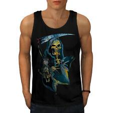 Tiempo REAPER Muerte Calavera Men Camiseta sin mangas Nuevo | wellcoda