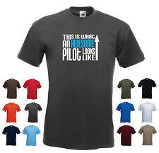 « Esto es lo que un gran piloto se ve como « compañía aérea Raf Avión Rc divertida camiseta