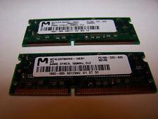 *NICE* 2X Micron PC100 64MB 100Mhz SDRAM Laptop Memory