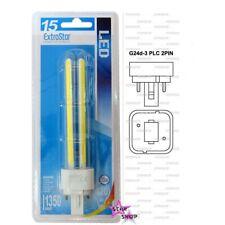 BOMBILLA LED COB PLC BAJO CONSUMO LAMPARA 15W 2 PIN G24d-3 LUZ BLANCA CALIDA