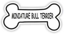 Miniature bull terrier os autocollant Race nom bol chiot Autocollant Vinyle pet