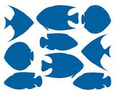 FISCHE AUFKLEBER Maritim Fish Meer Bad Deko Fliesen Spiegel Glas Küche Sticker