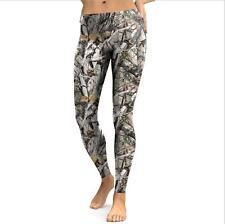 Women Fitness Realtree Printing Leggings Female Fashion Long Legins Long Dress