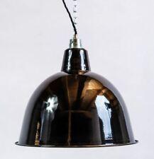 Fabriklampe 36cm schwarz rund Emaille Lampe Enamel Industrial Lighting