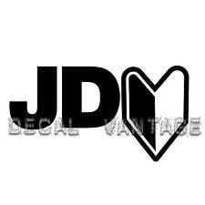 JDM Logo Style B Vinyl Sticker Decal Drift Race Japan - Choose Size & Color