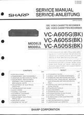 Sharp Original Service Manual  für VC-A 505S / A-605G