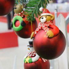 Claus Bear Christmas Decor Hanging Ball Xmas Tree Ornament Bauble Decorations