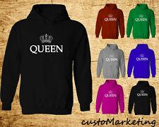 QUEEN Crown HOODIE Sweatshirt Crown Queen Hoodie Gym King Queen Sweater Best Gif