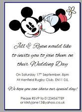 Carta personalizzata festa inviti Disney Mickey Minnie Mouse Matrimonio classic