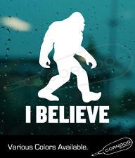Sasquatch I Believe STICKER VINYL DECAL FINDING BIGFOOT YETI UFO SQUATCH BOBO