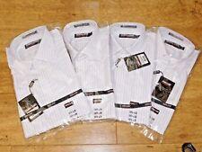 Kirkland Signature Men's 100/2 non-button down cotton Dress Shirt,pink stripe