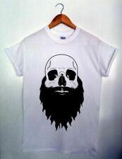 BEARDED SKULL Mens T-shirt S-XXL SWAG HIPSTER TATTOO BEARD
