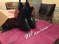 Maniera hand made 100% waterproof LOW CUT rain/snow boots *SHORT*(BLACK)