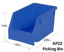 AP22 Pack of 24 VISIPLAS Picking Bins 225x143x140mm Blue