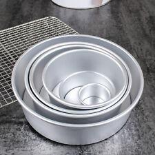 ROUND CAKE TIN 2 4 6 8 10 INCH LOOSE BASE BOTTOM DEEP BAKING PAN TIER WEDDING