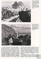 VALLE D'AOSTA TURISMO ROMANTICO GIULIO BROCHEREL BOURRIT MONTE BIANCO 1942