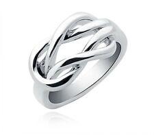 Fashion Trend Ring 925 Silber Doppelt Geschwungenes Damen Schmuck Geschenk