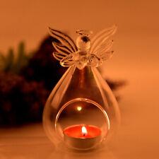 Glaskugel Glas Teelichthalter Kerzenhalter Stand Desktop Tischdekor Schutzengel