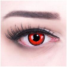 Farbige Kontaktlinsen für Halloween Fasching MIT Stärke rot schwarz Red Lunatic