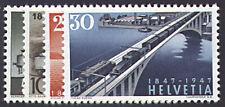 Schweiz Nr. 484-487 postfrisch ** MNH / gestempelt Schweizer Eisenbahnen 1947